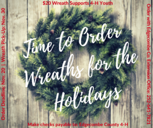 Cover photo for Holiday Wreath Orders
