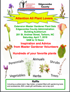 Cover photo for Edgecombe Master  Gardener Plant Sale