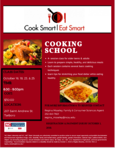 Cover photo for Cook Smart Eat Smart Cooking School