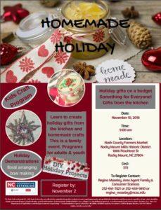 Cover photo for Homemade Holiday Program