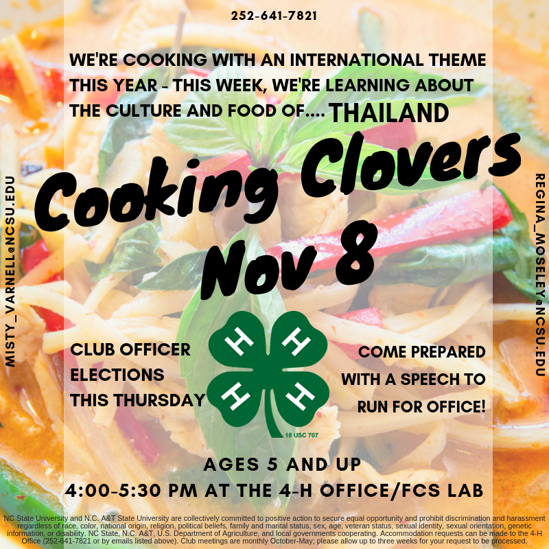 Cooking Clovers flyer image