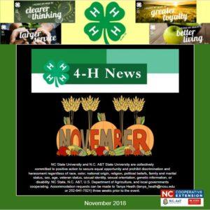4-H Fall newsletter image