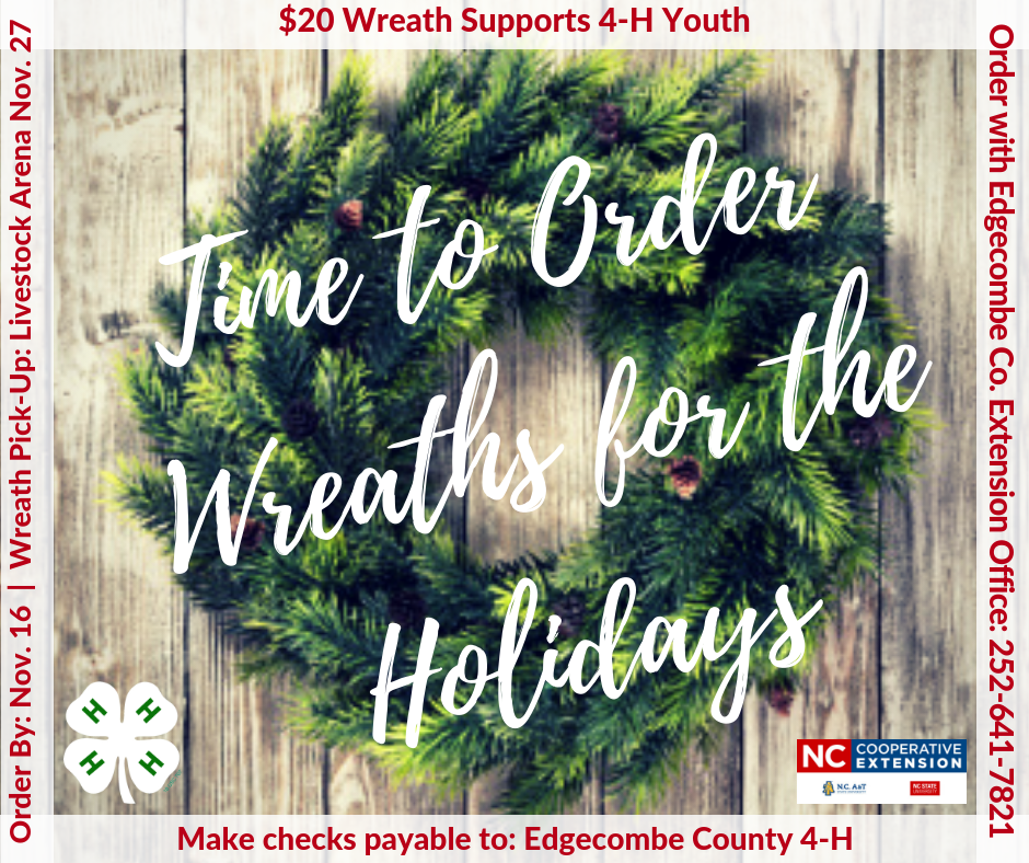 Wreath Fundraiser flyer image