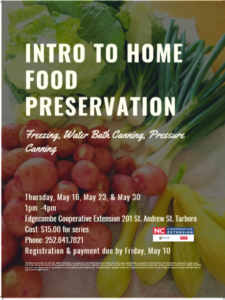 Intro to Food Preservation flyer image