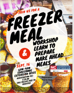 Freezer Meal flyer image