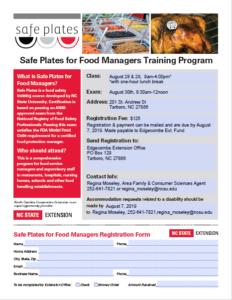 Safe Plates flyer image