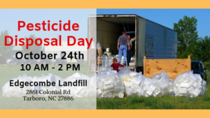 Cover photo for Edgecombe Pesticide Disposal Day