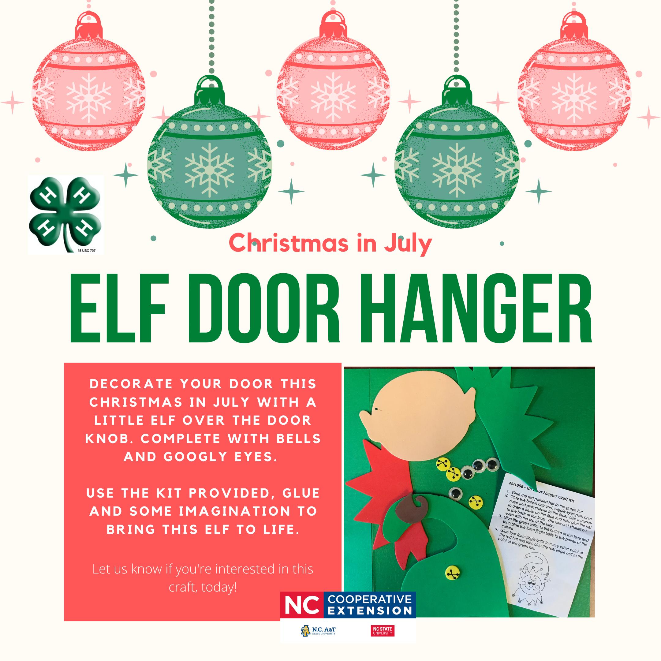 Elf Door Hanger