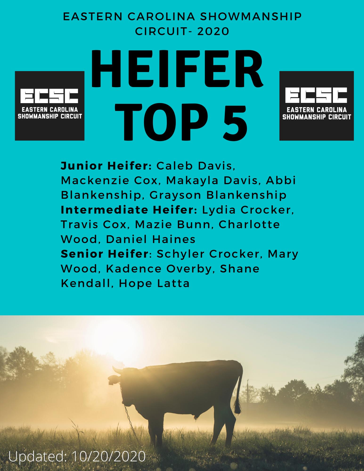 Heifer top 5