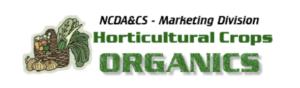 NCDA&CS Marketing Division - Horticulture Crops Organics Logo