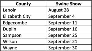 Hog Schedule ECSC