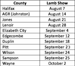 Lamb Show dates